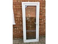 uPVC white double glazed door 840 x 2055
