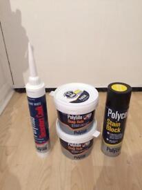 Decorators materials, stain-block, filler x2 and caulk