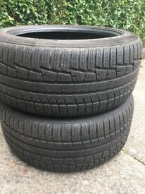 5 winter tyres for sale.