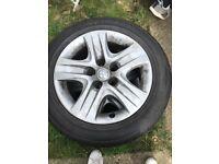 4 steel wheels plus tyres