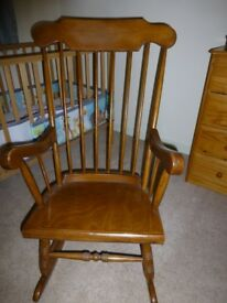 Traditional Wooden Rocking Chair - adult size