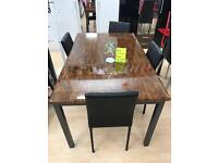 Sydney dining table with 6 chairs £450