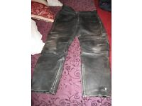 Rhino Leather motorcycle trousers 34 waist 28 inside leg