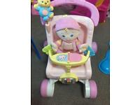 Fisher price buggy/baby walker and dolly