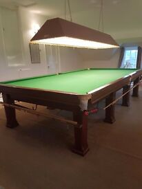 Full size snooker table for sale with slate bed