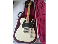 Fender American special telecaster in blonde with Hiscox hard case
