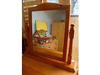 Wood framed mirror for dressing table
