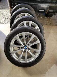 LIKE  NEW  BMW  328i  FACTORY OEM 17 INCH WHEELS WITH HIGH PERFORMANCE RUNFLAT  MICHELIN PRIMACY 225 / 50 / 17 ALL SEASO