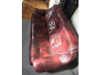Woolwich SE18 3 seater sette or sofa and wooden cabinet/ cupboard with glass doors