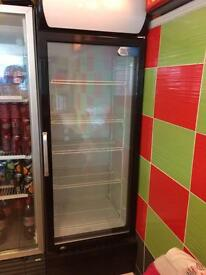 Tall glass door fridge