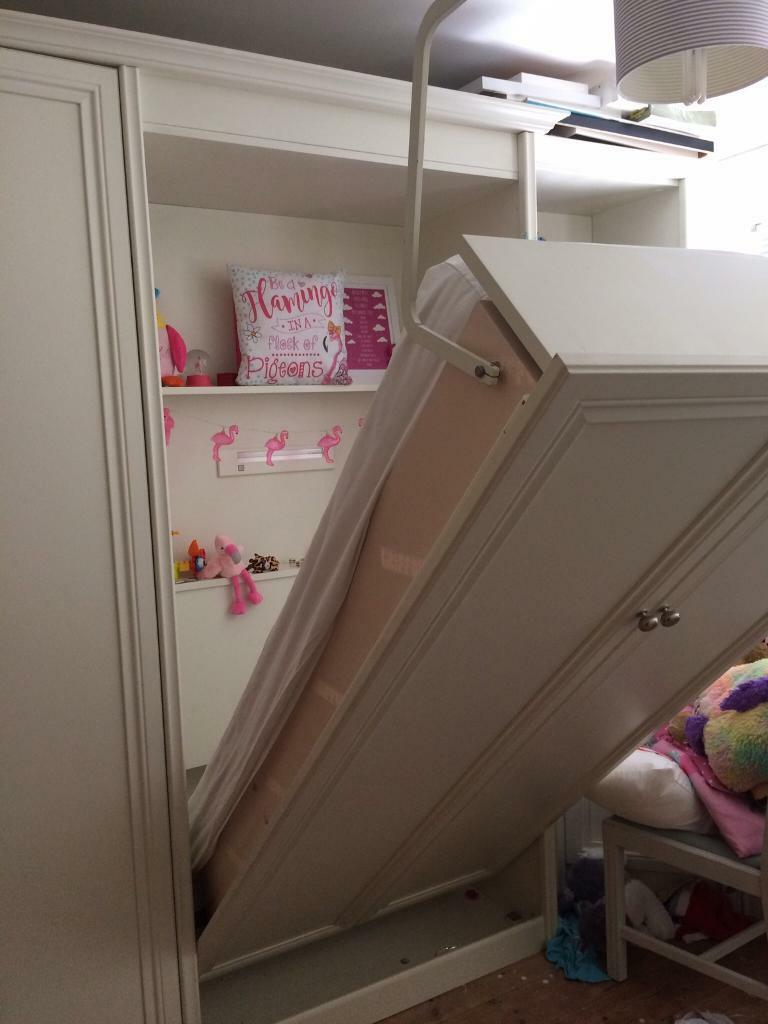 Pull down bed, wardrobe and desk