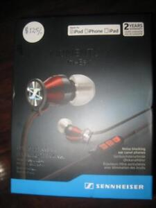 Sennheiser Momentum In-Ear Headphones / Earbuds Mic. For iPhone / iPod / iPad. Powerful Bass. High Quality Audio Sound