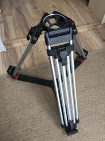 Sachtler 2-stage lightweight alloy professional tripod legs 100mm bowl with spreader and case