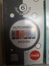 Coca cola limited edition Hutchinson design 2016 glasses x 5 boxed