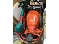 Flymo Easi glide 300 and Bosch grass trimmer in good condition