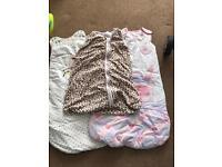 Selection of girls sleeping bags