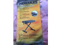 Quality Hercules bench for use (normally) with piano/keyboards Folds down and highly adjustable