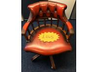 *** Ox-Blood chesterfield captains chair***Free Local Delivery***
