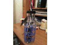Brand New Paperchase Milk Bottle with straw