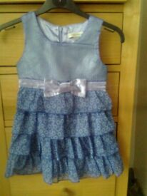 Pumpkin Patch dress, blue flowers, cost £26, never worn, 24 months, excellent condition