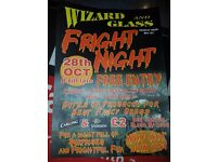 Halloween fright night at the wizard and glass pub