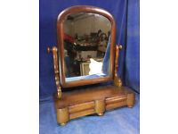 Victorian Mahogany 'Toilet' Mirror With 2 Drawers c.1880