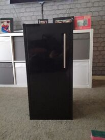 Two black gloss cabinets