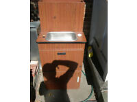 units sink with water tank and storage, coolbox hobb 2 burner with draw