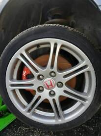Honda civic ep3 type r alloy wheels with good tyres