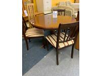 Round dining table 3 chairs