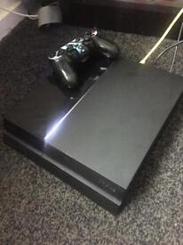 PS4 black+controller fully working