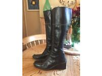 Bertie Black Leather Boots size 5/38
