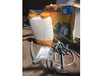 Hozelock + large backpack sprayer.