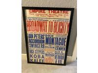 Vintage poster framed