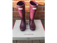 HUNTER WELLIES JUNIOR SIZE 13 IN EXCELLENT USED CONDITION