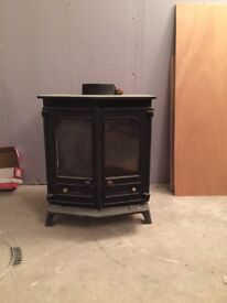 Charnwood Country 8B Multifuel Stove with flue.