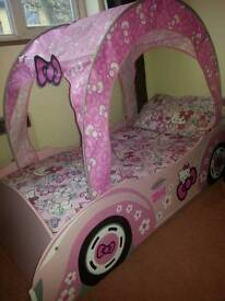 Hello Kitty Toddler bed plus mattress and hello kitty bedding