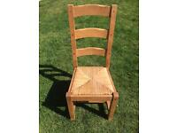 Solid wood dining chairs x 8