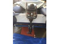 Outboard 4HP Mercury 2 Stroke, Short Shaft, Lightweight and Reliable. Can be seen working.