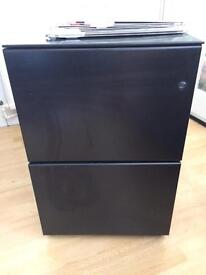 Two draw metal full filing cabinet