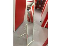 Full length mirror with frame and on a stand (i.e. for bedroom)