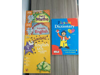 KS1 English&Maths homework books together with a picture dictionary,bargain for all at £10
