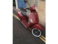 BRAND NEW VESPA GT 125 BURGUNDY MAT RETRO LOOK SPECIAL EDITION RT BIKE