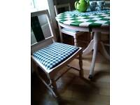 Tables and chairs