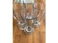 4 x Latte glasses
