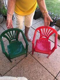 Children's chairs x2