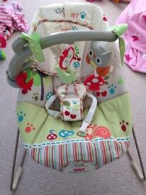 Fisher price woodland bouncy chair