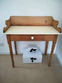 Pine washstand or dressing table