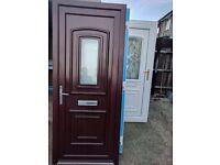 Rosewood white upvc door