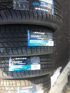 BRAND NEW WITH LABELS HIGH PERFORMANCE SAILUN ALL SEASON  TIRE 225 / 65 /  17 SET OF FOUR